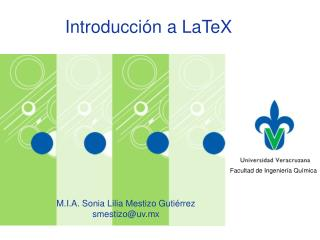Introducción a  LaTeX