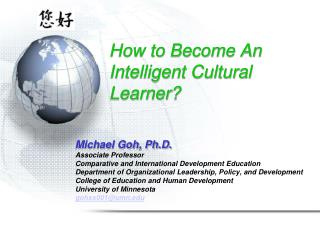 How to Become An Intelligent Cultural Learner?