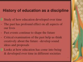 History of education as a discipline