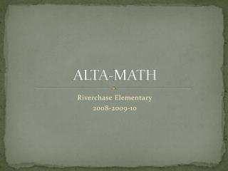 ALTA-MATH