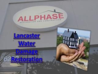 Lancaster Water Damage Restoration