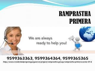 Primera Sector 37D Gurgaon Call 9599363363