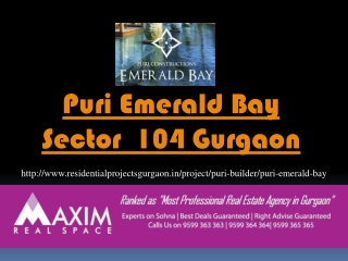 Emerald Bay Gurgaon || 9599363363
