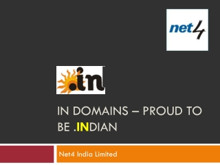IN Domains – Proud to Be .INDIAN