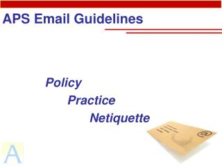 APS Email Guidelines