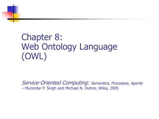 Chapter 8: Web Ontology Language (OWL)