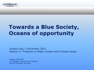 Towards a Blue Society,  Oceans of opportunity