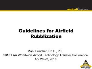 Guidelines for Airfield Rubblization