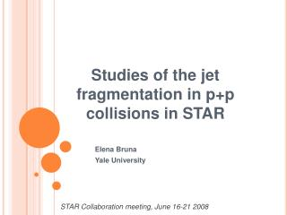 Studies of the jet fragmentation in p+p collisions in STAR