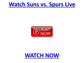 @@@@Suns & Spurs Live Sopcast playoff > NBA Phoenix Suns vs
