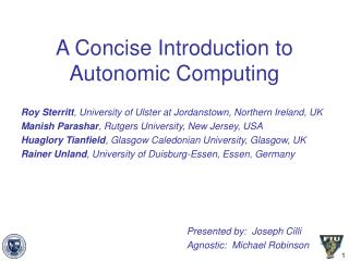 A Concise Introduction to Autonomic Computing