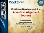Workforce Development, Inc.  A Vertical Alignment Journey