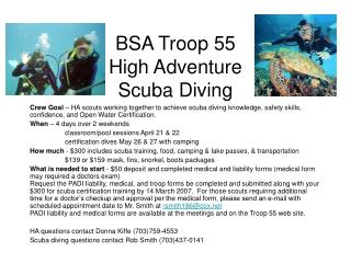 BSA Troop 55 High Adventure  Scuba Diving