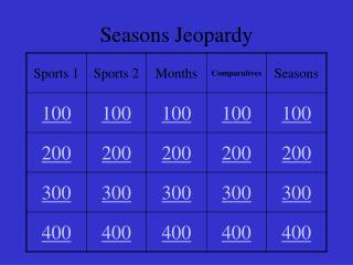 Seasons Jeopardy