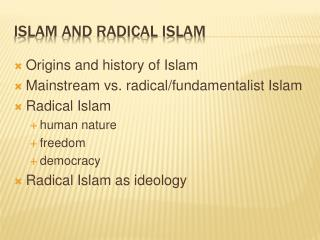 Islam and radical  islam