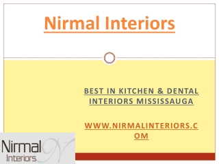 Kitchen Interiors decorating & dental interior Mississauga