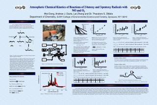 Atmospheric Chemical Kinetics of Reactions of 2-butoxy and 3-pentoxy Radicals with NO and O 2 Wei Deng, Andrew J. Davis,