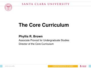 The Core Curriculum