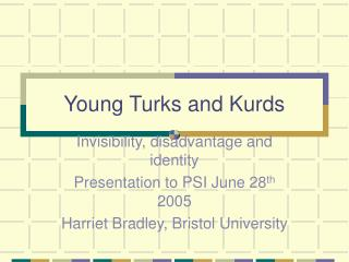Young Turks and Kurds