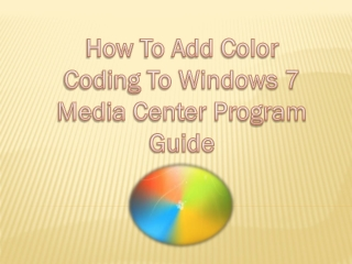 How to add color coding to window 7
