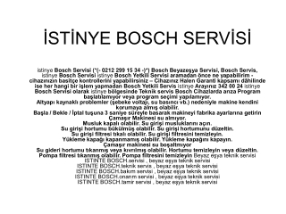 (*(- 0212 299 15 34 -)*) Bosch Servis, istinye, servisi Olma