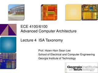 ECE 4100/6100 Advanced Computer Architecture  Lecture 4  ISA Taxonomy