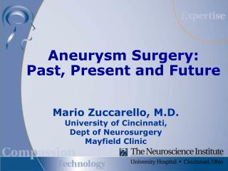 Aneurysm Surgery: Past, Present and Future