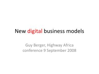 New  digital  business models