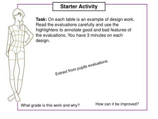 Extract from pupils evaluations