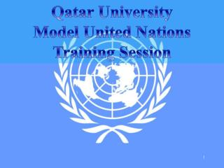 Qatar University Model United Nations Training Session