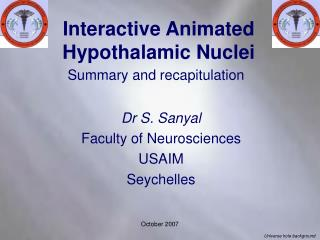 Interactive Animated Hypothalamic Nuclei