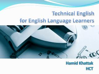 Technical English for English Language Learners