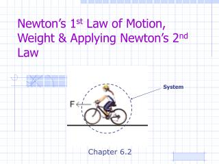 Newton s 1st Law of Motion, Weight  Applying Newton s 2nd Law