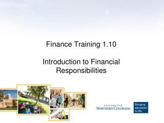 Finance Training 1.10 Introduction to Financial Responsibilities