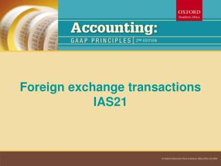 Foreign exchange transactions IAS21