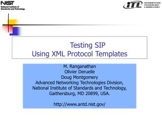 Testing SIP  Using XML Protocol Templates