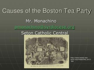 Causes of the Boston Tea Party