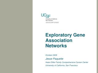 Exploratory Gene Association Networks