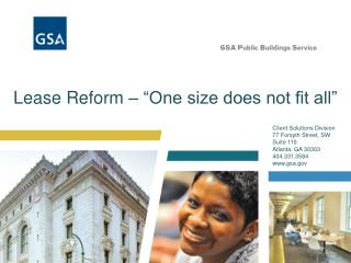 Lease Reform    One size does not fit all