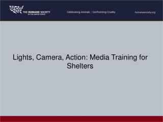 Lights, Camera, Action: Media Training for Shelters
