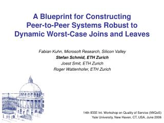 A Blueprint for Constructing  Peer-to-Peer Systems Robust to  Dynamic Worst-Case Joins and Leaves