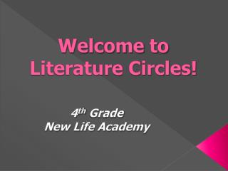 Welcome to  Literature Circles!