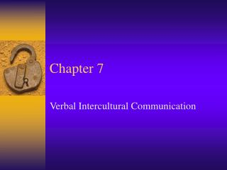 Verbal Intercultural Communication