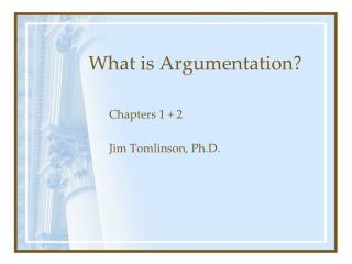 What is Argumentation?