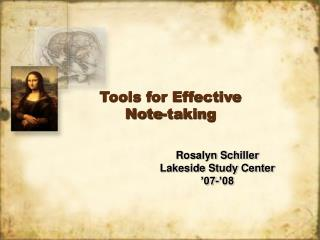 Tools for Effective  Note-taking