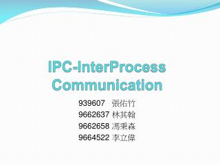 IPC- InterProcess  Communication