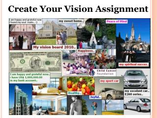 Create Your Vision Assignment