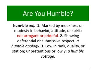 Are You Humble