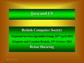 Java and C#