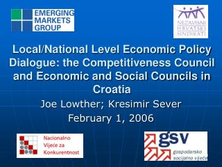 Local/National Level Economic Policy Dialogue: the Competitiveness Council and Economic and Social Councils in Croatia
